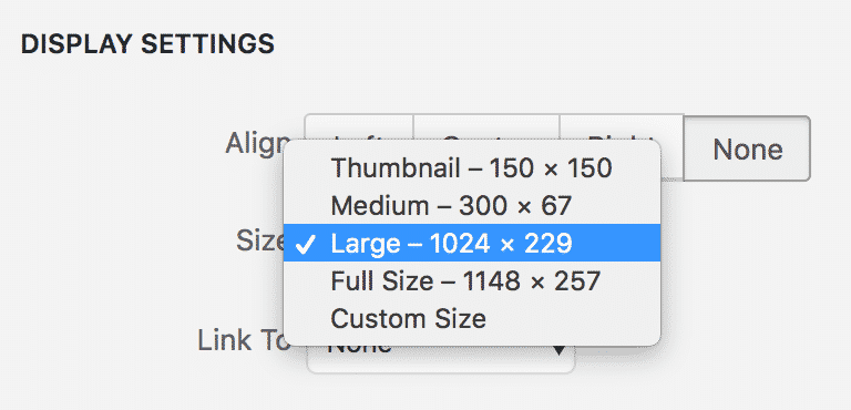 Image of Image size choices