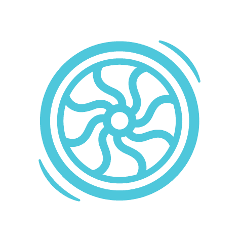 Flywheel Logo | Partner in Website Hosting with Blue + Pine Creative