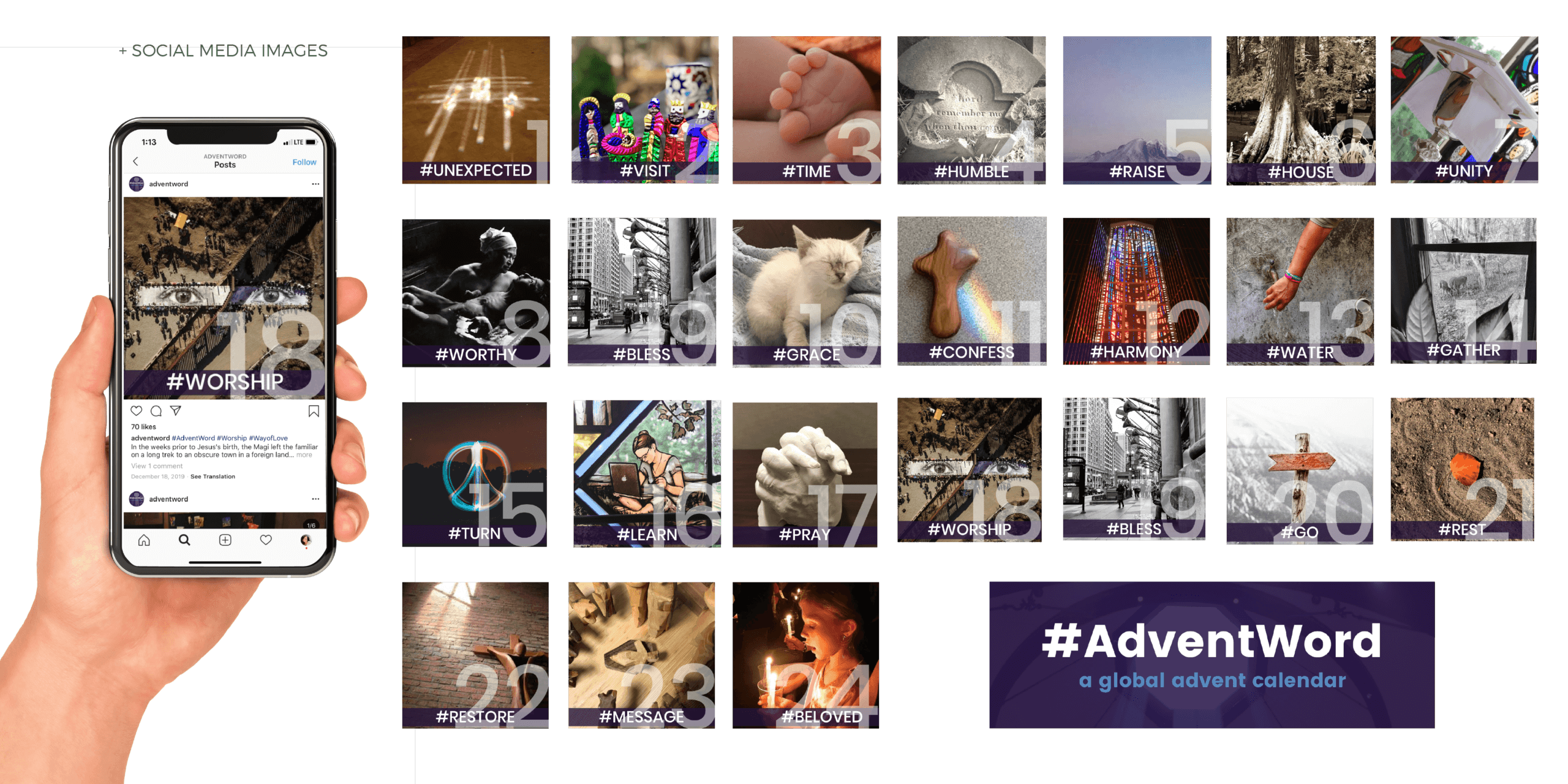 Portfolio | Website Design and Social Media Graphic Design for Advent Word 2019