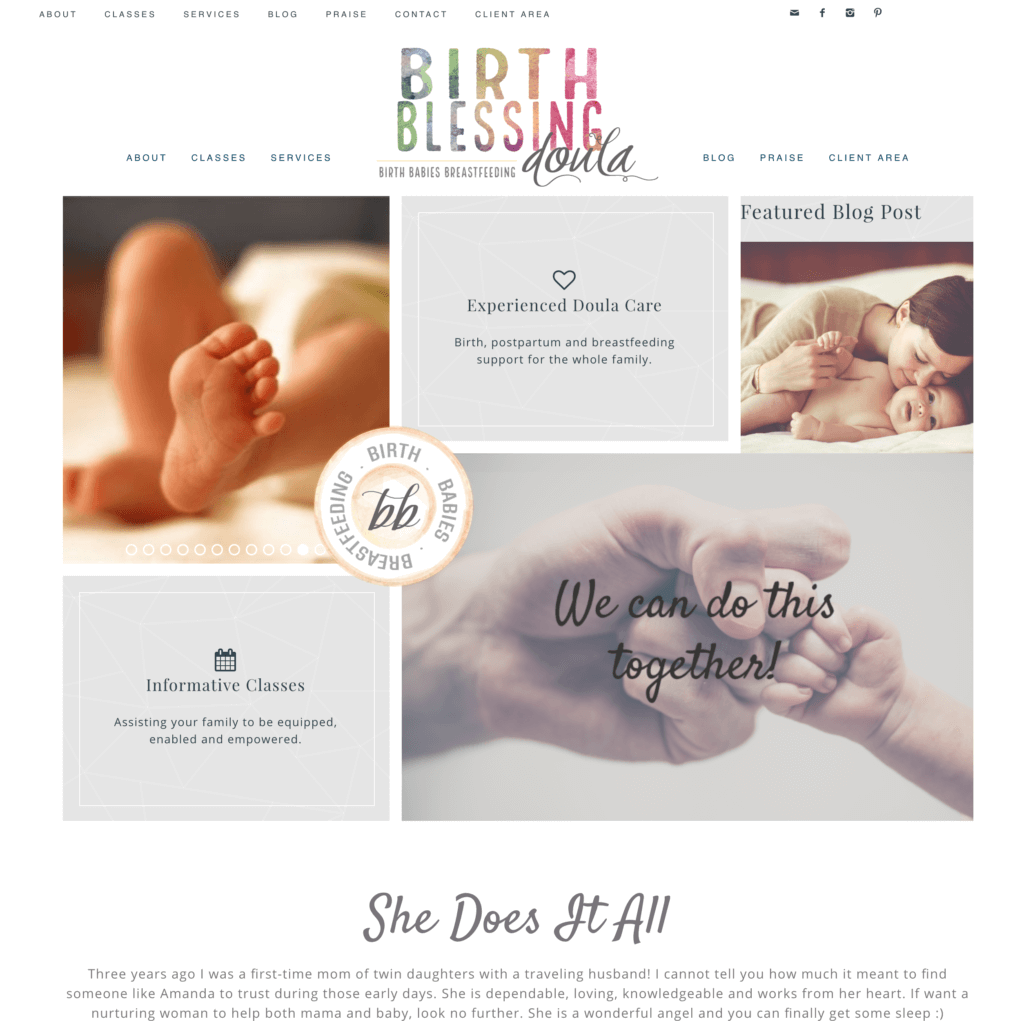 Site image of Birth Blessing Doula