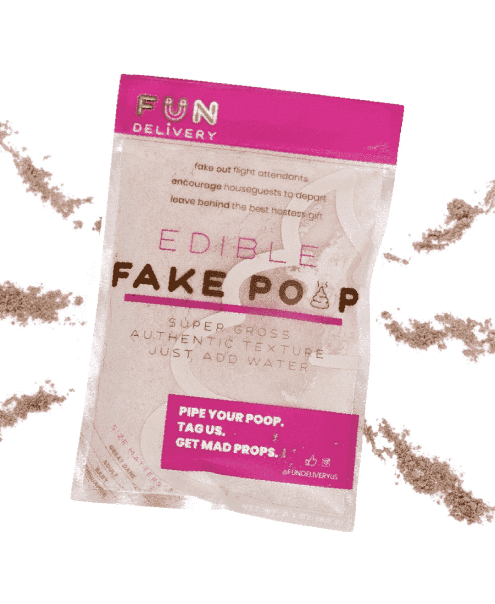 Package Design Portfolio | displays package for Fun Delivery's Edible Fake Poop