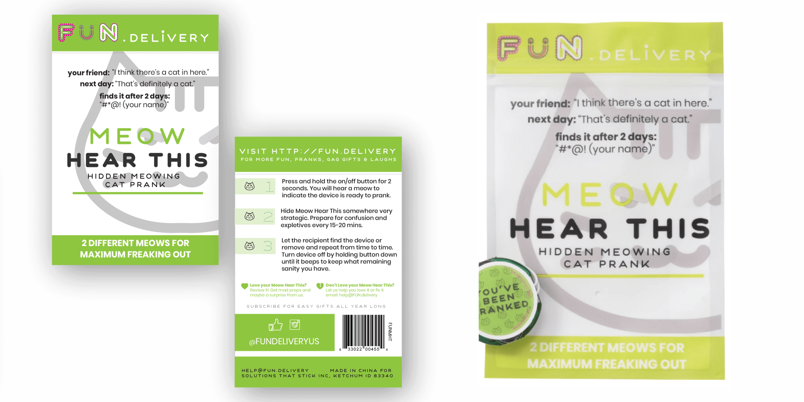 Package Design Portfolio | Design and actual package for Meow Hear This